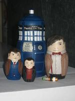 The Doctors and Tardis by ClaireLinde