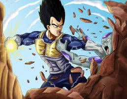 Vegeta vs Frieza by Amenoosa