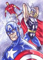 Avengers Sketchcard by therealARTURO