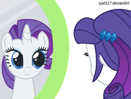 Through The Mirror - Rarity by SJArt117