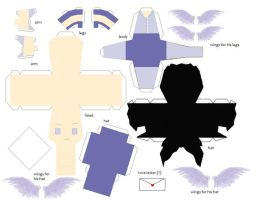 Hermes Papercraft pattern by Dragazhar