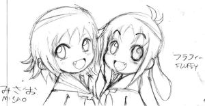 Fluffy and Misao by EV133