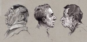 Drawings after Norman Rockwell paintings by oosterbe