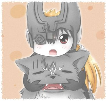 midna and wolflink by Midna01