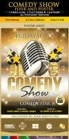 Comedy Show Poster Flyer and Ticket Template by Godserv