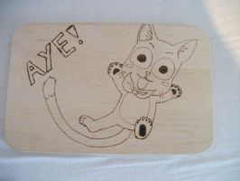 Happy Breakfast Tray Woodburn by weisewoelfin