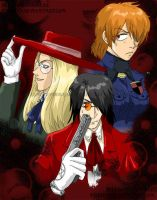 awkward hellsing fan art. by ryuuenx