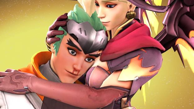 Mercy Witch and Young Genji by DarknessRingoGallery