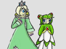 :redo: Rosalina and Cosmo by SurgeCraft