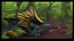 Colorful Tenrec by DawnFrost