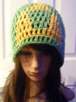 Crochet Classic Color Triforce Beanie by AAMurray