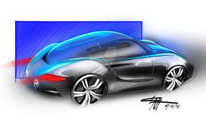 Porsche rendering by chrislah294