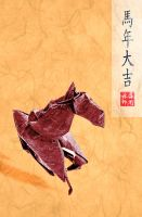 Origami Year of the Horse! by ObeseRhino