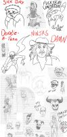 New Year Sketch Dump Part1 by Impendidngdoom46