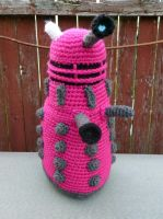 Trixie the Pink Dalek by MilesofCrochet