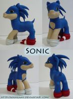 Sonic The Hedgehog Pony by AnimeAmy