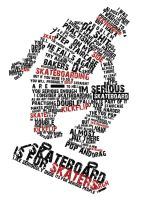 typography on skater's convo by faitheory