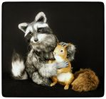 Raccoon TINDER and squirrel SPARK by KALEideaSCOPE
