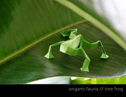 paper life - tree frog by st3rn1