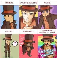 Professor Layton - Style Meme by Dartlein