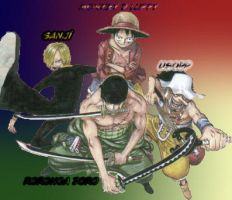 StrawHats First 4 Crewmate by muslu