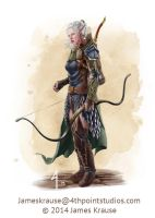Dylania Traferra, Wolfhunter of Talistryn by JamesJKrause