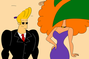Johnny Bravo and Ms Bellum by HAAnimation