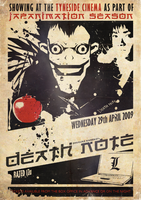 Death Note Tyneside Poster by ameba2k
