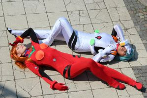 Asuka and Rei Cosplay by awesome-Kathi