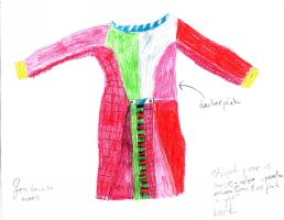6th Doctor Coat Drawing--Back by darksporechild