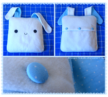Bunny pillow by oranges-lemons