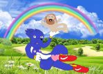 sonic and baby Jesus by xXWakeMeUpXx
