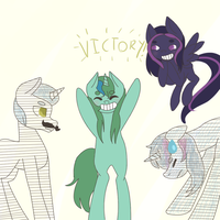 Victory, at long last by Llamadon