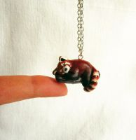 Red Panda necklace by FlowerLandBySaraMax