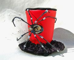 Tiny Top Hat: Steam Punk Black Widow by TinyTopHats
