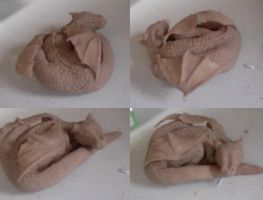 WIP Baby Dragon Sculpture by KateBloomfield