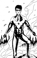 Nightwing New 52 Ink by HeroFromMars