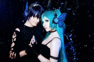 Vocaloid Magnet Kaito and Miku by mokrushina