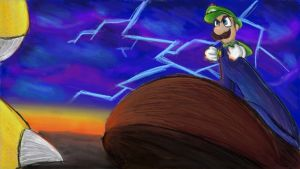 Stand and Fight, Luigi!! by Angelstar7