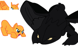 Playing With Toothless (Base #32) by Applejaz