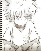 Killua Traditional Art by xxDaisuki-Koixx