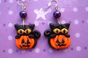 Cats_Earrings by missbeautifool