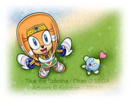 Tikal and Chao - By the river by Kojichan