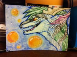 Druidpaw aceo trade by nightspiritwing