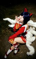 League of Legends Ahri Cosplay by K-I-M-I