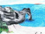Oil Pastel Dorset Coastline by petrosinella