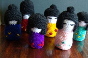 Kokeshi dolls by Craftcove