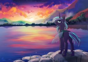 Sun and night by Margony