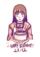 Happy birthday Hinata by chesterina