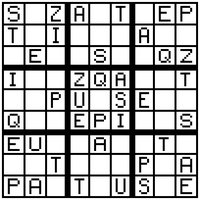 A Sudoku With Letters. by edderiofer